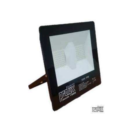 Proyector exterior led modelo LUX  IP66 100W 6500K marca Prolux
