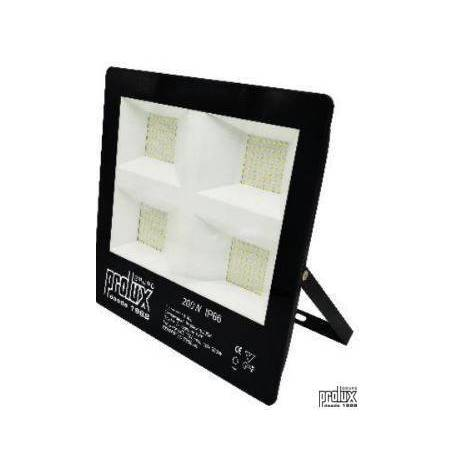 Proyector exterior led modelo LUX  IP66 200W 6500K marca Prolux