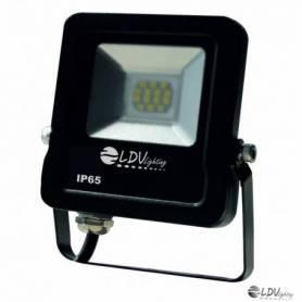 PROYECTOR LED SMD 10w 850lm 120º 3000K IP65 NEGRO marca LDV