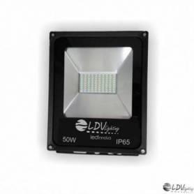 PROYECTOR LED SMD 50w 4250lm 120º 3000K IP65 NEGRO marca LDV
