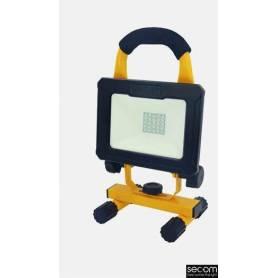 Proyector Industrial Negro Modelo Tenko Autónomo Led IP65 10W 4000K marca Secom Iluminación