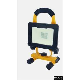 Proyector Industrial Negro Modelo Tenko Autónomo Led IP65 20W 4000K marca Secom Iluminación