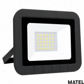 Proyector Led Aluminio Negro 20W Luz Fria marca Matel