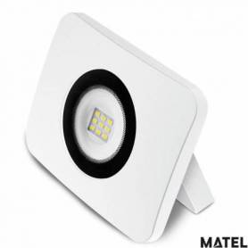 Proyector Led Aluminio Fundido Blanco 10W Luz Fria marca Matel