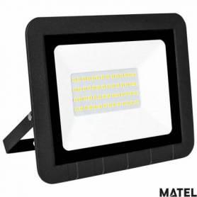 Proyector Led Aluminio Negro 30W Luz Fria marca Matel