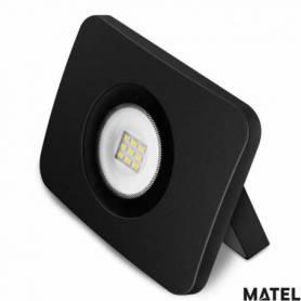 Proyector Led Aluminio Fundido Negro 20W Luz Fria marca Matel