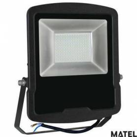 Proyector Led Aluminio Negro 50W Luz Fria marca Matel