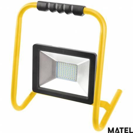 Proyector Led Plano Soporte 30W Luz Fria marca Matel