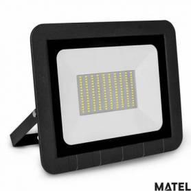 Proyector Led Aluminio Negro 75W Luz Fria marca Matel