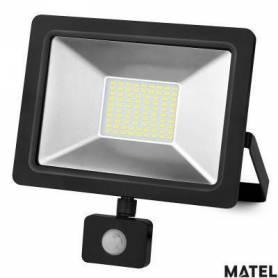 Proyector Led Aluminio Plano Negro 70W Luz Fria marca Matel