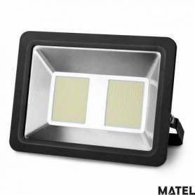 Proyector Led Aluminio Plano Negro 200W Luz Fria marca Matel