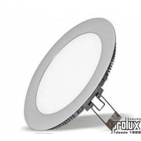 Downlight led redondo modelo  310 PLATA 3000K marca Prolux