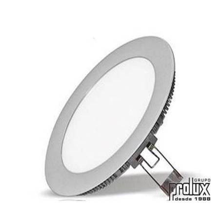 Downlight led redondo modelo  310 PLATA 3000K marca Prolux