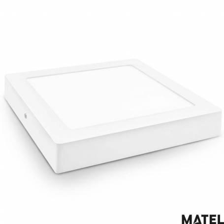 Downlight Led Aluminio Cuadrado Superficie Luz Calida marca Matel
