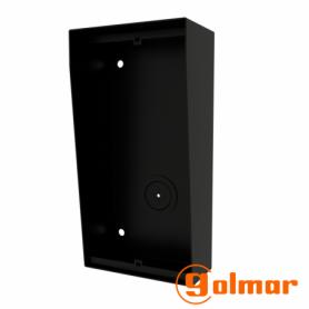 Caja de superficie con visera integrada NX872 BLACK Golmar