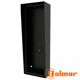 Caja de superficie con visera integrada NX873 BLACK Golmar