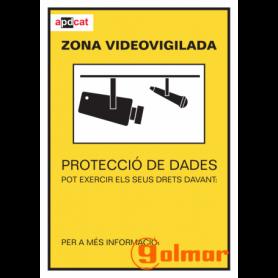 Placa homologada CCTV-P2A en catalán Golmar