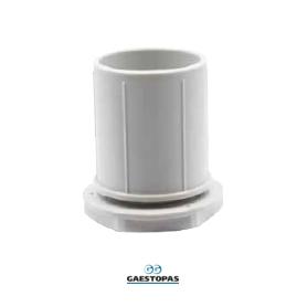 RACOR RECTO M-25 DE PVC-GRIS GAESTOPAS