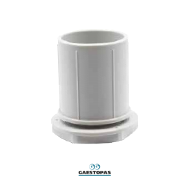 RACOR RECTO M-50 DE PVC-GRIS GAESTOPAS