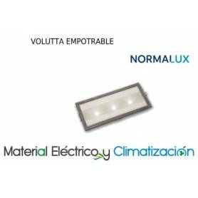 Alumbrado de emergencia Volutta EM  90lm Aluminio de NormaLux