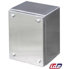 CAJA BORNAS INOX 316L 150x150x90 LAT.LISOS TAPA ATORNILLADA-IP66 MARCA IDE