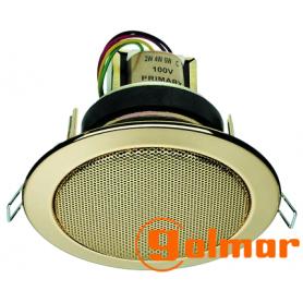 Difusor metálico color oro de 6 vatios RCS-107G Golmar