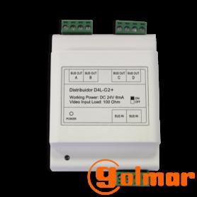 Distribuidor de vídeo D4L-G2+/DIN Golmar