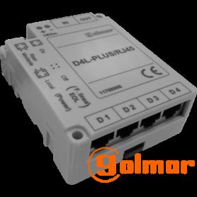Distribuidor de vídeo D4L-Plus/RJ45 Golmar