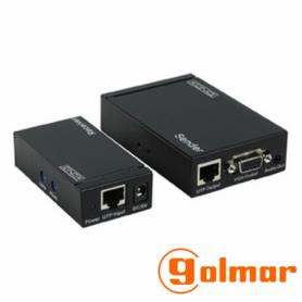 Emisor / receptor de VGA y audio por UTP Cat5/6 VGA-EXT Golmar