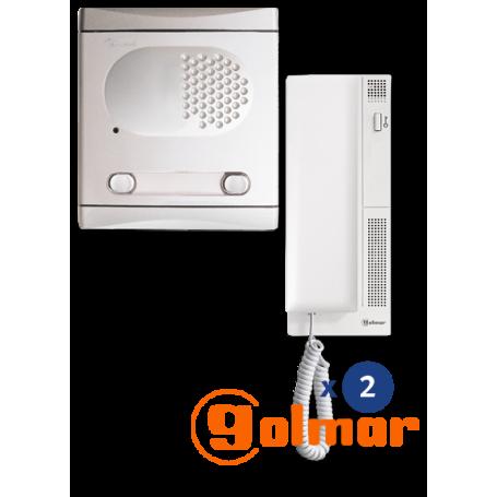 Kit de audio 2 líneas 4220/AL Golmar