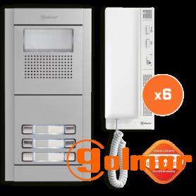 Kit comunitario de audio para 6 viviendas E5206/T-562 Golmar