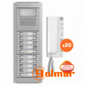 Kit comunitario de audio para 20 viviendas E5220/T-562 Golmar