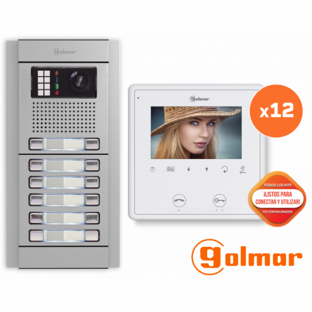 Kit comunitario de vídeo para 12 viviendas E8212/VESTA2 SE Golmar