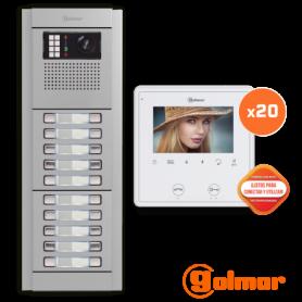 Kit comunitario de vídeo para 20 viviendas E8220/VESTA2 SE Golmar