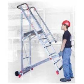 Escalera con plataforma de 6 peldaños 150/SM