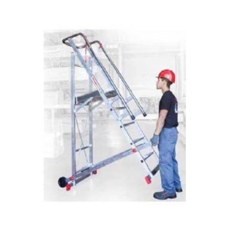 Escalera con plataforma de 5 peldaños 100/SM