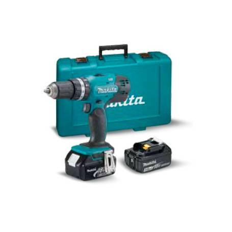 Taladro combinado 18V 13mm DHP453 + 2 baterias + cargador + maletín