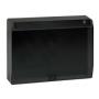 Kit caja pared superficie-empotrar 3 elementos dobles con tapa abatible, 2 enchufes dobles,2 placas RJ45 grafito Simon 500 Cima