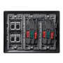 Kit caja pared de superficie-empotrar 3 elementos dobles con 1 enchufe doble,1SAI doble y 2 placas 2RJ45 grafito Simon 500 Cima