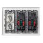 Kit caja pared de superficie o empotrar 3 elementos dobles con 2 enchufes dobles y 2 placas 1 RJ45 6 UTP blanco Simon 500 Cima