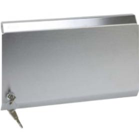 Tapa metálica para marco de pared metálico de superficie o empotrar para 8 elementos acero inox Simon K45