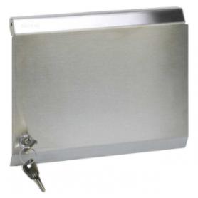 Tapa metálica para marco de pared metálico de superficie o empotrar para 6 elementos acero inox Simon K45