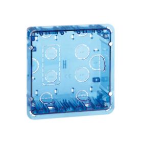 Caja de pared de empotrar para 2 elementos dobles suministrado en embalaje múltiple Simon 500 Cima