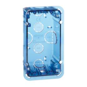 Caja de pared de empotrar para 1 elemento doble suministrado en embalaje múltiple Simon 500 Cima