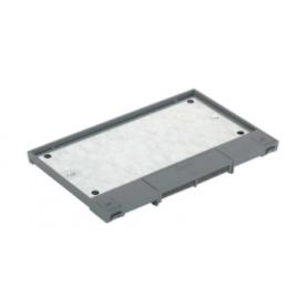 Tapa abatible para caja de suelo regulable o tapa registro en pavimento o suelo técnico 8 elementos gris Simon 500 Cima