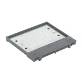Tapa abatible para caja de suelo regulable o tapa registro en pavimento o suelo técnico 4 elementos gris Simon 500 Cima
