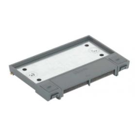 Tapa abatible para caja de suelo regulable o tapa registro en pavimento o suelo técnico 2 elementos gris Simon 500 Cima