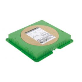 Cubeta de plástico para caja de suelo circular de profundidad reducida en pavimento para 6 elementos Simon 500 Cima