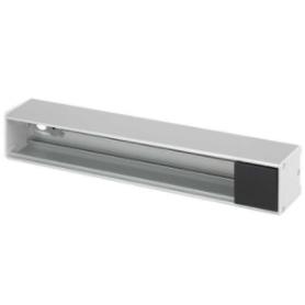 Perfil de aluminio Ofiblock Line de 6 elementos con 4 accesos para cableado trasero grafito Simon K45
