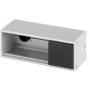 Perfil de aluminio Ofiblock Line de 2 elementos con 2 accesos para cableado trasero grafito Simon K45